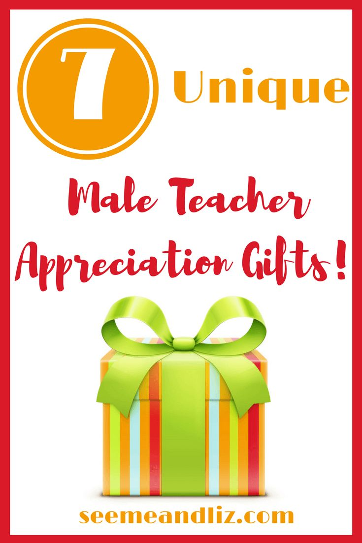 Male teacher gift ideas that are personalizable.  Great for end of the year, Christmas or teacher appreciation day