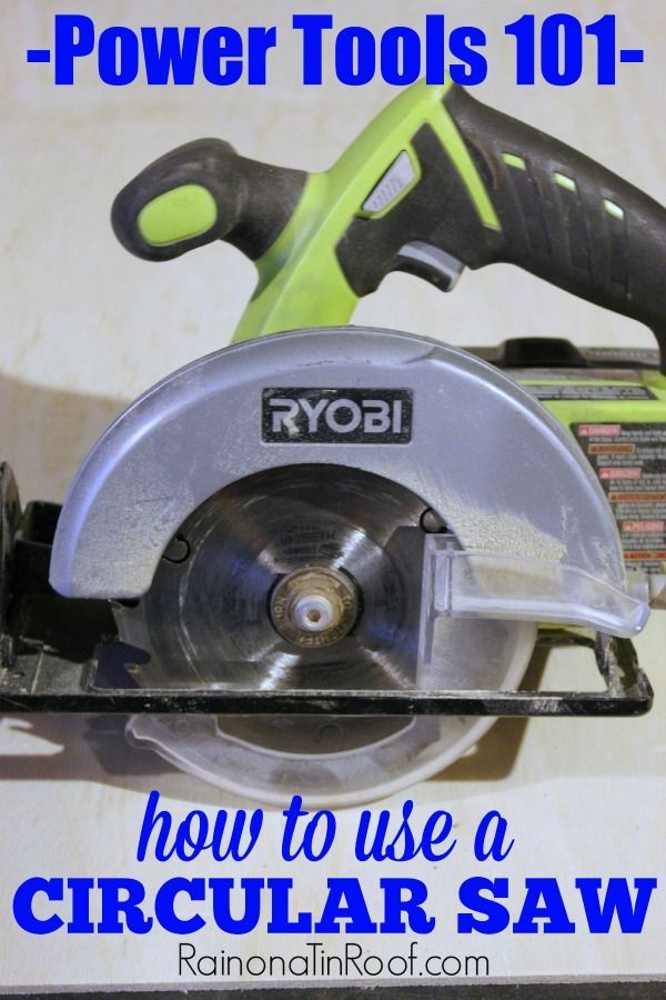 Need the basics on how a circular saw works? This guide will teach you how to use a circular saw - in easy to understand terms and instructions!