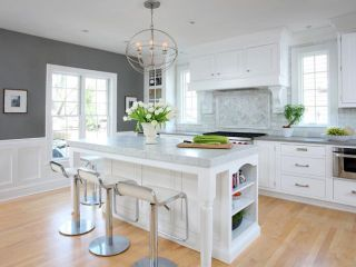 Hardwood floors add a natural element to a kitchen plus they make the whole living space flow and this makes the entire space appear large...home decor, home decor blog, home decor blogger, interior design, interior decorating, home style, home styling inspiration