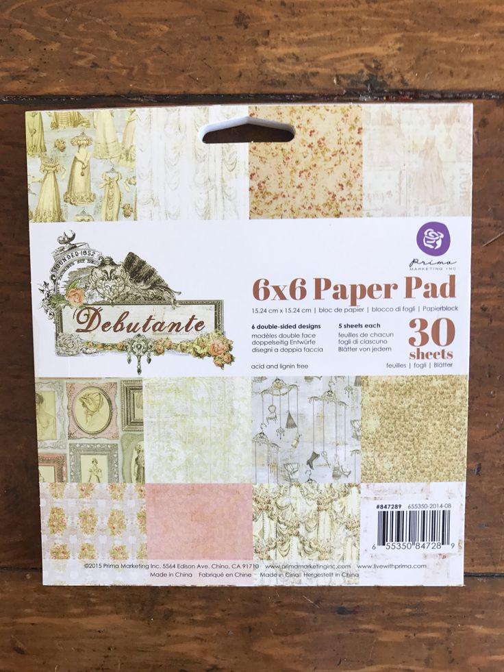 Debutante 6x6 Paper Pad
