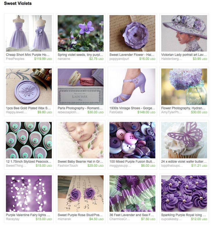 """I created this treasury """"Sweet Violets"""" as a thank you to Christy from #poppyandpurl • www.etsy.com/shop/poppyandpurl"""