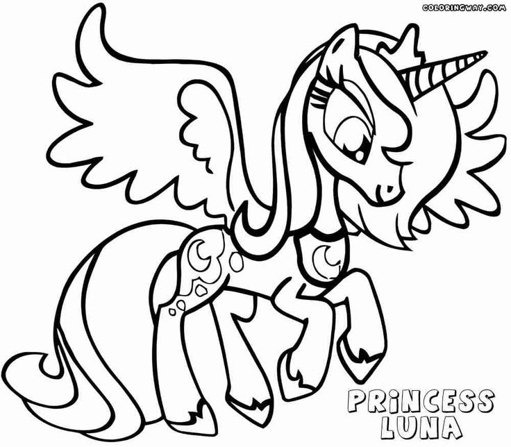 Princess Luna Coloring Pages to Print Through the