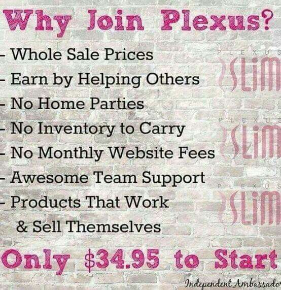 How many of you are scrolling through pinterest looking for ways to make some side money, extra dough, quick cash?  Did you know that for the cost of a meal for two you can get what you're wanting from Plexus? What are you waiting on? If you're looking, I'm looking for you!