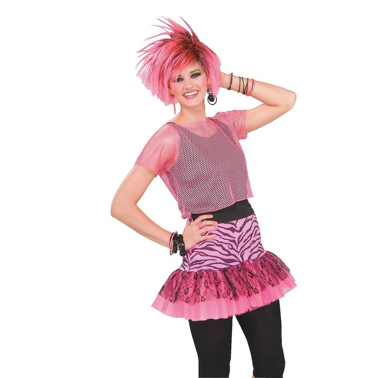 Best 25 rockstar costume women ideas on pinterest rock costume pop party skirt pink adult womens costume orientaltrading solutioingenieria Image collections