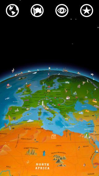 Barefoot World Atlas - är en magisk interaktiv 3D atlas att upptäcka och i samtal gå på upptäcksfärd på vår planet.