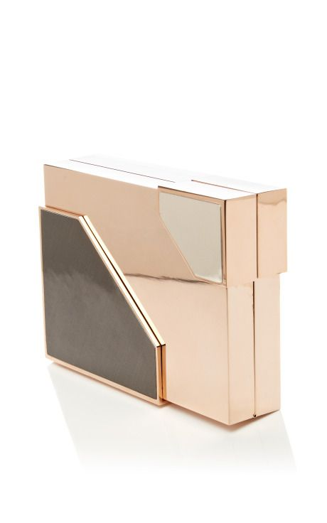 M'O Exclusive: Broken Space Rose Gold-Plated Clutch by Lee Savage Now Available on Moda Operandi
