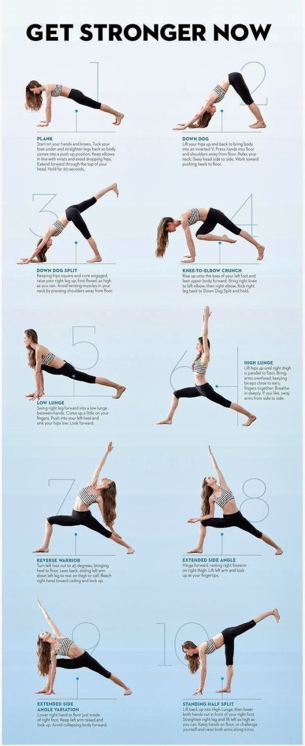 Get stronger now with these yoga poses