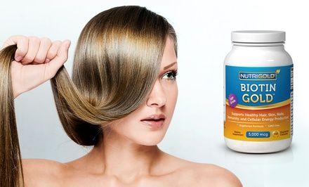 2 180-Capsule Bottles of Biotin Hair-Growth Supplements