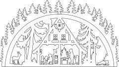 Vorlage Schwibbogen Waldhaus                                                                                                                                                                                 More