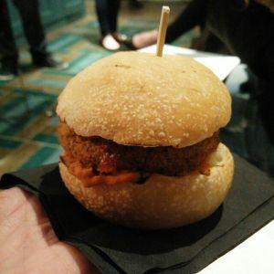 Hot and spicy vegan Quorn burger. https://mintcustard.wordpress.com/2015/10/25/vegan-quorn-vegan-quorn/
