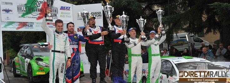 Il 38° Rally Appennino Reggiano è di Rusce e Farnocchia - Seconda vittoria in carriera per il 45enne pilota di Rubiera, affiancato dal navigatore lucchese: in testa dall'inizio alla fine, l'equipaggio a bordo di una Ford Fiesta R5 ha avuto ragione di Davide Medici e Danilo Fappani (Citroen DS3 R5) e dei vincitori della scorsa edizione Roberto Vellani e Luca Amadori (Peugeot 208 R5).  Il Rally Appennino Reggiano resta nella mani di un pilota di casa. A Roberto Vellani