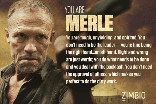 I took Zimbio's 'Walking Dead' quiz and I'm Merle! Who are you? #ZimbioQuiz
