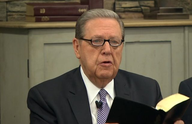 """At the worldwide teacher council meeting, Elder Holland gave some warnings about things that are potentially dangerous for teachers to do. """"Let me start with a couple of things we should not do, a couple of things I think will impede teaching by the Spirit,"""" he says."""
