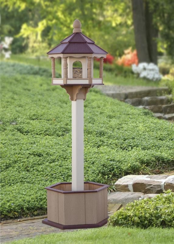 Amish Poly Large Hexagon Bird Feeder