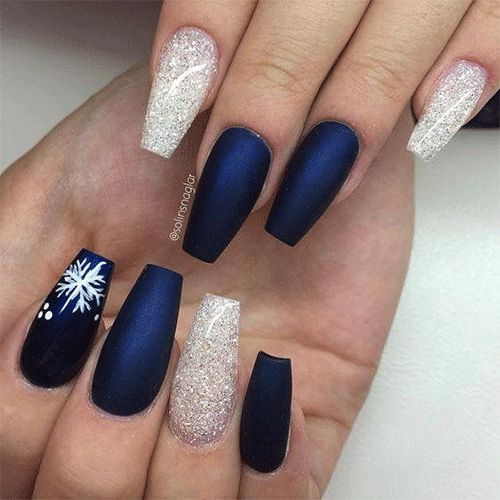 15+ Easy & Easy Winter Nails Artwork Designs & Concepts 2018