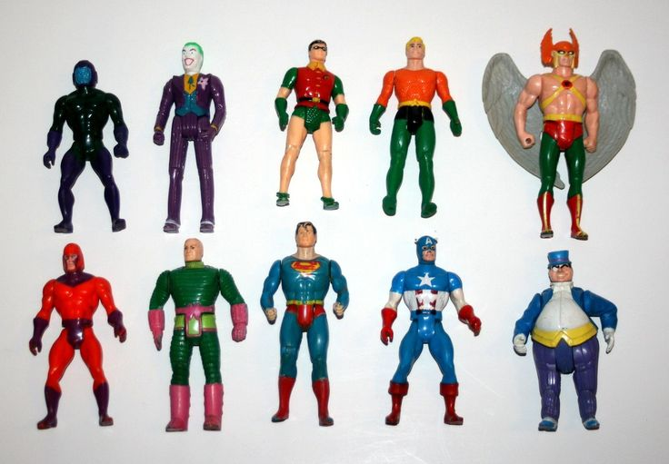 """1980's Lot of 10 Kenner 'DC Super Powers' 'Marvel Secret Wars' 4 1 2"""" AF'S   eBay"""