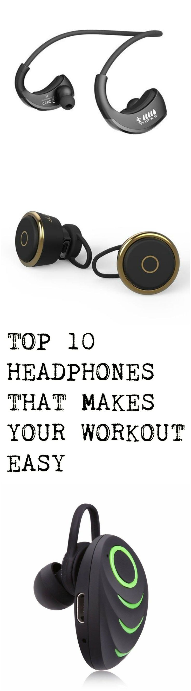 Top 10 Bluetooth Wireless Noise Cancelling Headphones. Great for workouts, gym and running without tangles! #Technology