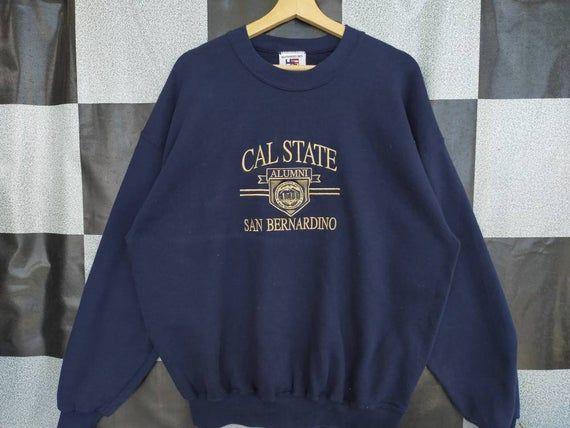 Vintage POLO CLUB Short Sleeve Sweasthirt Big Logo Embroidered Navy Blue Sweasthirt Unisex Casual Design Size L