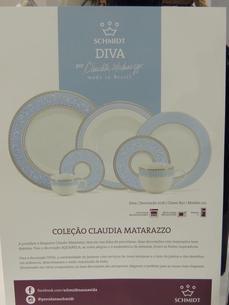 Linha Diva , de Porcelana Schmidt , é assinada pela jornalista e consultora de etiqueta e comportamento , Claudia Matarazzo