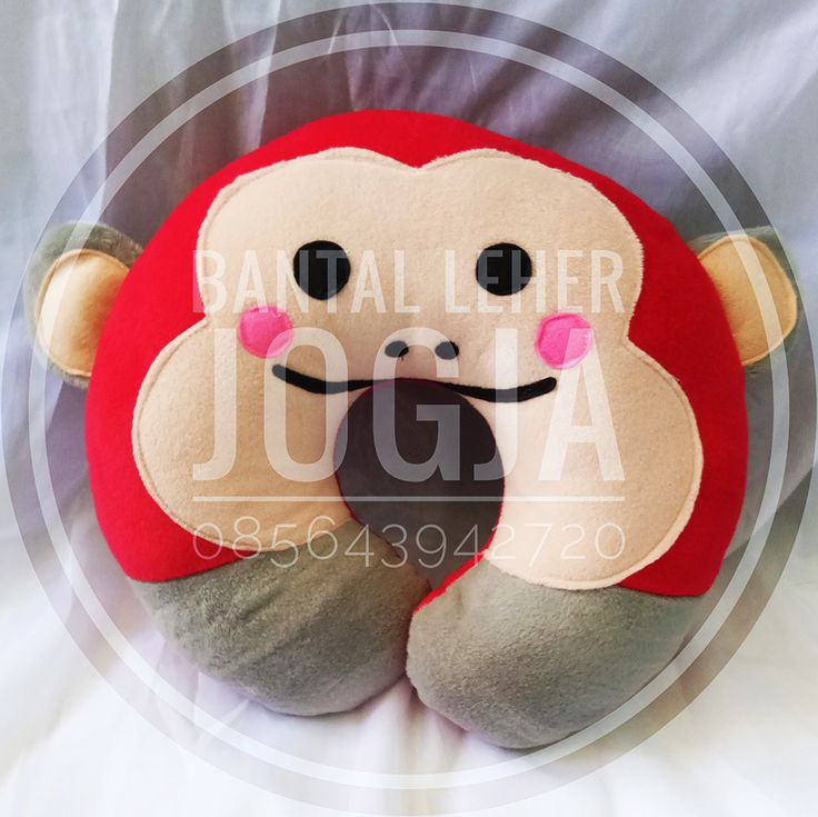 Bantal Leher Jogja karakter Monyet RED Smile