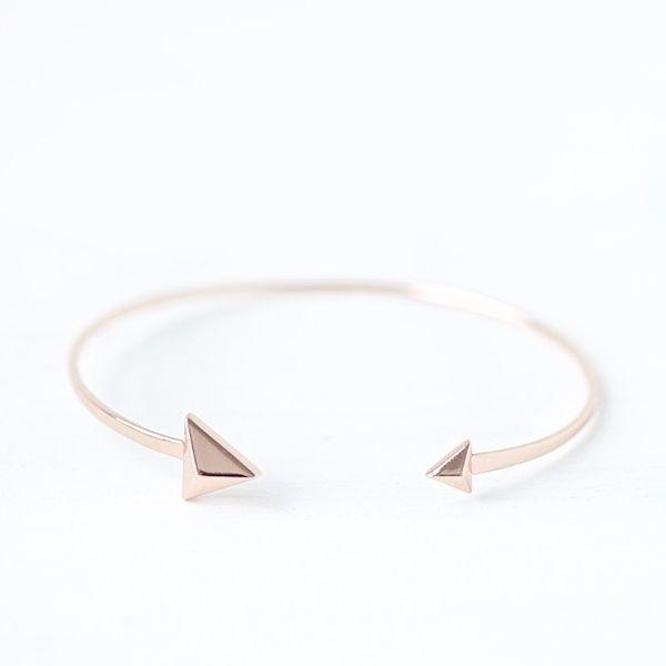 """Armbänder - Roségold Armspange """"Dreieck"""" - ein Designerstück von lebenslustiger-com bei DaWanda"""