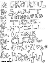 inspirational quotes coloring pages - Inspirational Word Coloring Pages