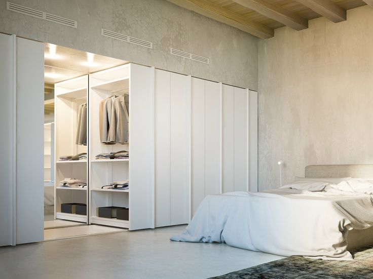 Sliding wardrobe / Compactable filing cabinet VELA by Fantin design Salvatore Indriolo