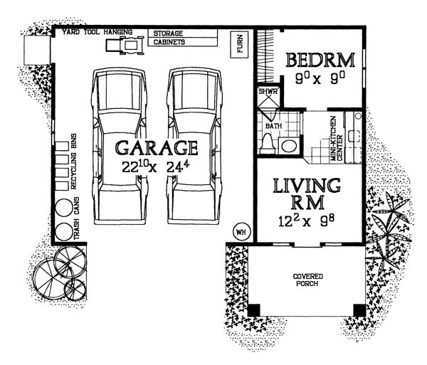 Best 25 garage with apartment ideas on pinterest garage for Garage guest house floor plans