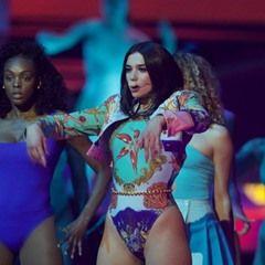 Dua Lipa performs live at the 2018 Brit Awards