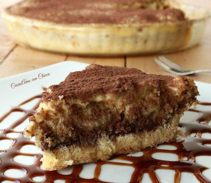 oggi crostata al tiramisù è in arrivo lo Weekend e cosa c'è di meglio che preparare dolci?? oggi vi propongo la mitica crostata al tiramisù semplicissima da