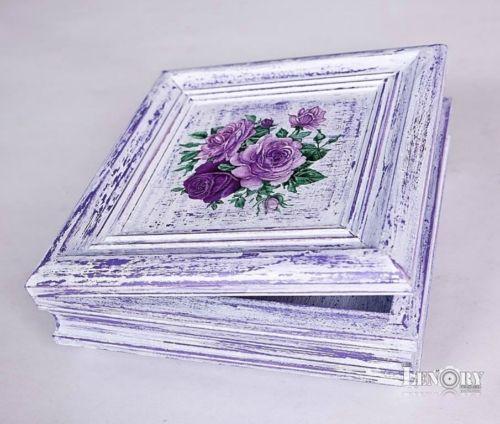 šperkovnice lila patina -vintage