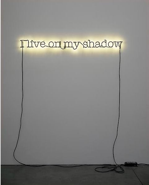 """Glenn Ligon, """"Untitled (I live on my shadow),"""" 2009, Neon and paint, Courtesy of Luhring Augustine"""