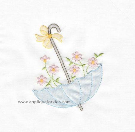 Shadow Work & Embroidery :: Shadow Floral Umbrella
