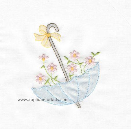 Shadow Work & Embroidery :: Shadow Floral Umbrella