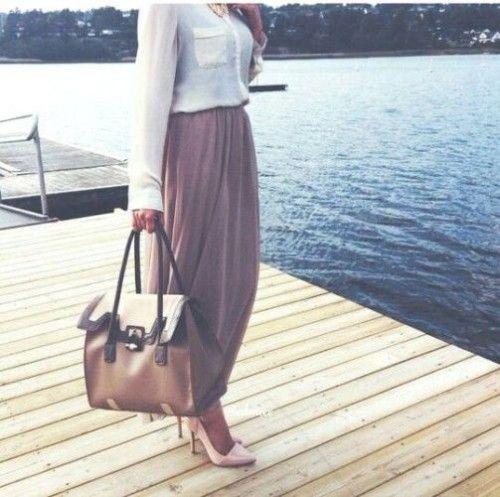 elegant hijab style, Hijab spring street fashion…