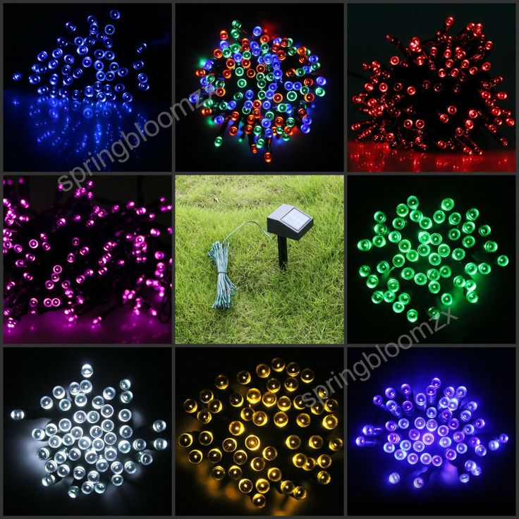 outdoor solar powered 7 colors lighting 100 led garden christmas party string fairy decoration holiday lighting - Solar Powered Outdoor Christmas Lights