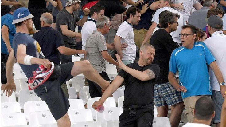 Ausschreitungen in Frankreich   Auch deutsche Hooligans prügelten mit - Fussball - Bild.de