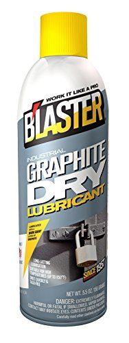 B'laster 8-GS Industrial Graphite Dry Lubricant - 5.5-Ounces  Dark Gray Lubricant Dries Tack Free  Thread Lubricant (Anti-Seize)  Use on Gaskets, Transfer and Conveyor Belts, Rollers, Wheels and Gears