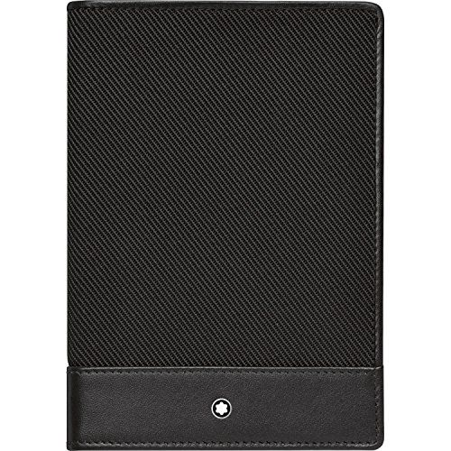 Montblanc Nightflight Travel Wallet in Black soft leather and nylon.  Features  Soft Leather & Nylon passport holder / wallet  water stains and scratch resistance  inside: Pocket suitable for all international passports  One additonal pocket  Measures: 4 x 5.50