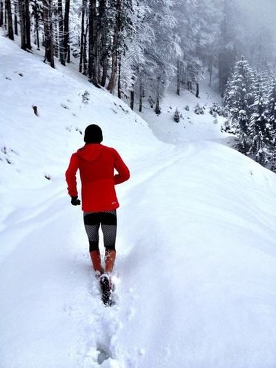 """richyyinruns: Ryan Sandes, running some snowy trails!""""The lower your bad patch"""