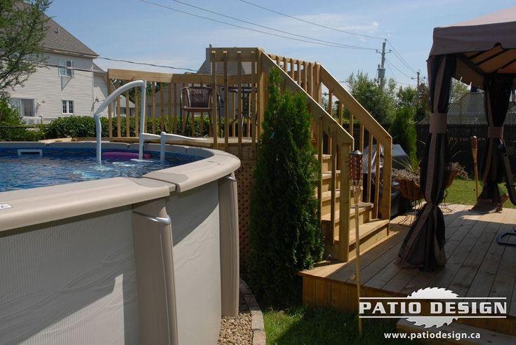 Patio pour piscine hors-terre - Photo