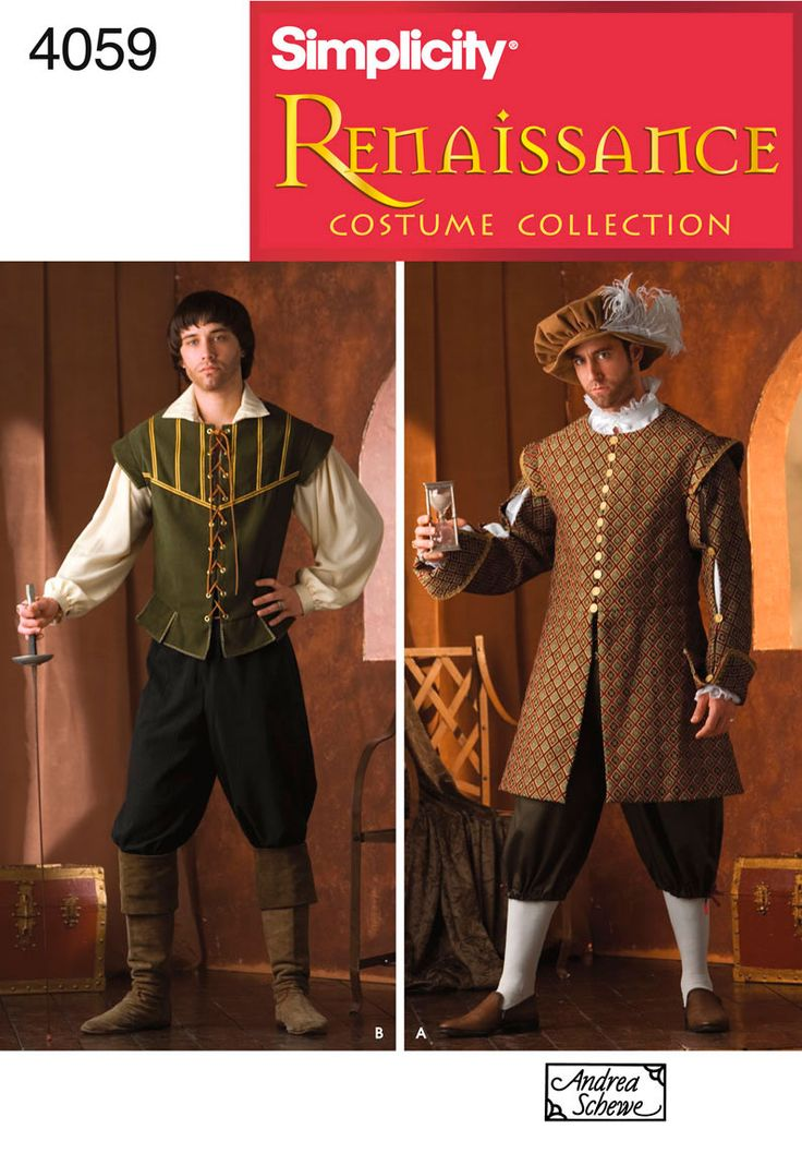 Mens Renaissance Costume Sewing Pattern 4059 Simplicity. Possible starting point for my Halloween costume