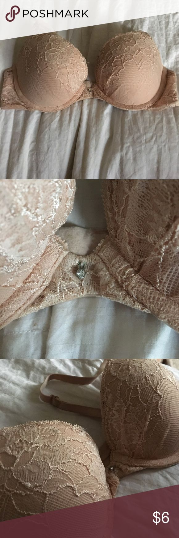 Nude/light pink push up bra Good used condition. Worn a few times but not the right size for myself, some wear from the washing machine:  price is final, unless bundled with an other item! (Not VS just used for advertising) Victoria's Secret Intimates & Sleepwear Bras
