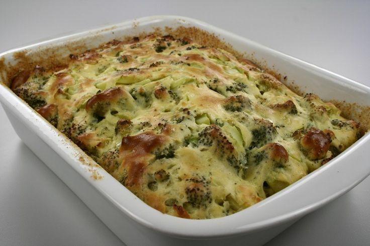 Pisk mælk og mel i en gryde og tilsæt grøntbouillonen varm op og tilsæt smør og lad det småkoge i 3 min. <BR> <BR> Tag gryden af varmen og rør æggene i et ad gangen. <BR> <BR> Bland broccolibukett