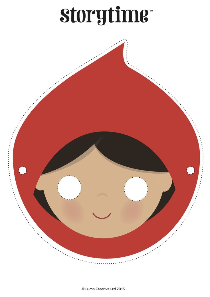 Download our free Red Riding Hood mask and act out this wonderful fairy tale! ~ STORYTIMEMAGAZINE.COM