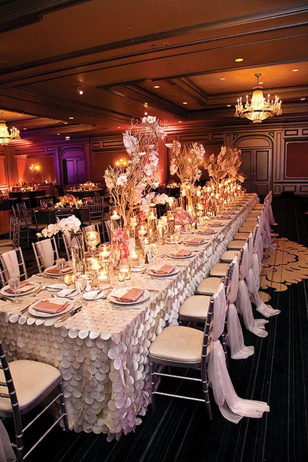 Platinum and Blush Old Hollywood Wedding in Atlanta - Munaluchi Bridal Magazine