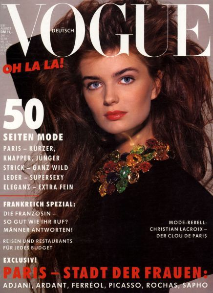 Paulina Porizkova Vogue Deutsch August 1987