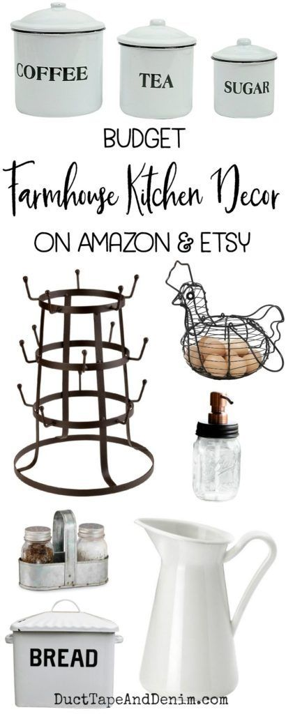 Farmhouse Kitchen Decor on a Budget from Amazon & Etsy
