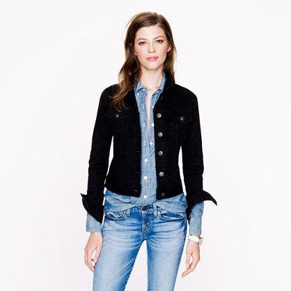 Womens Black Jean Jacket