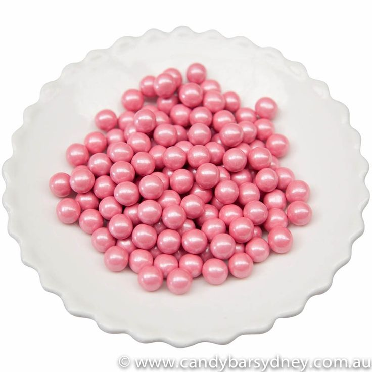 Pink Shimmer Sixlets for pretty pink candy buffets
